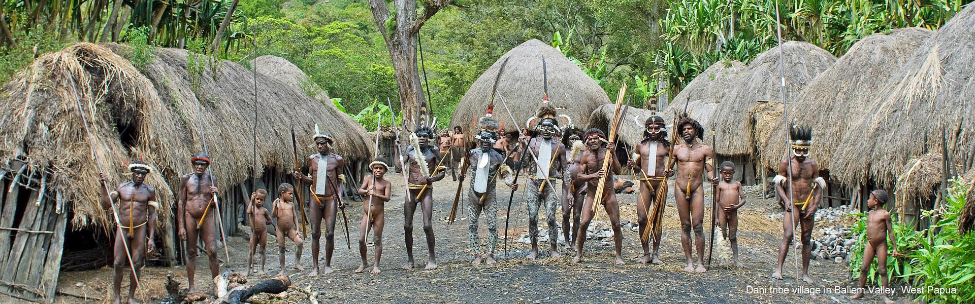 Dani tribe village in Baliem Valley, West Papua