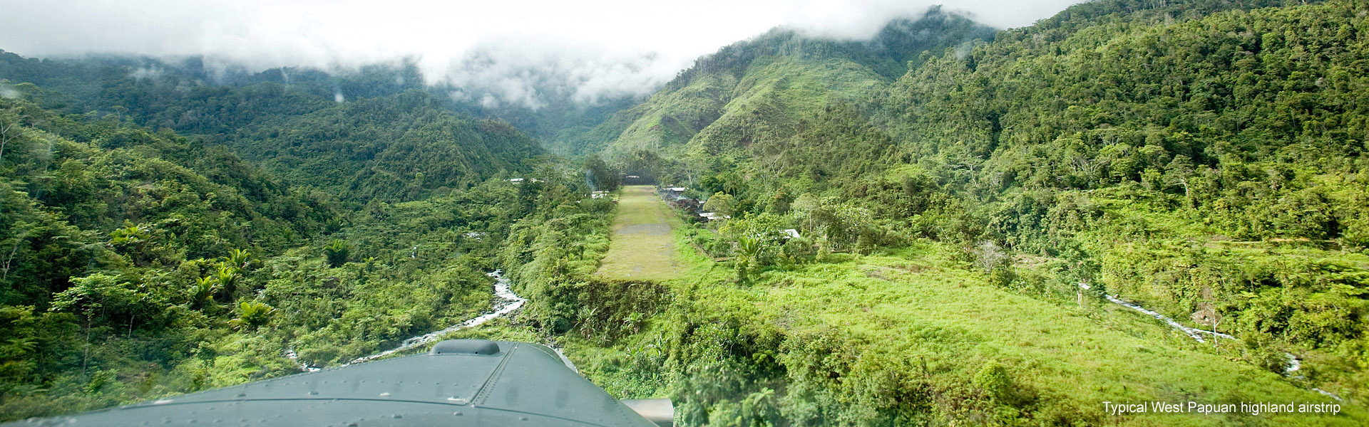A typical highland airstrip in West Papua, Indonesia