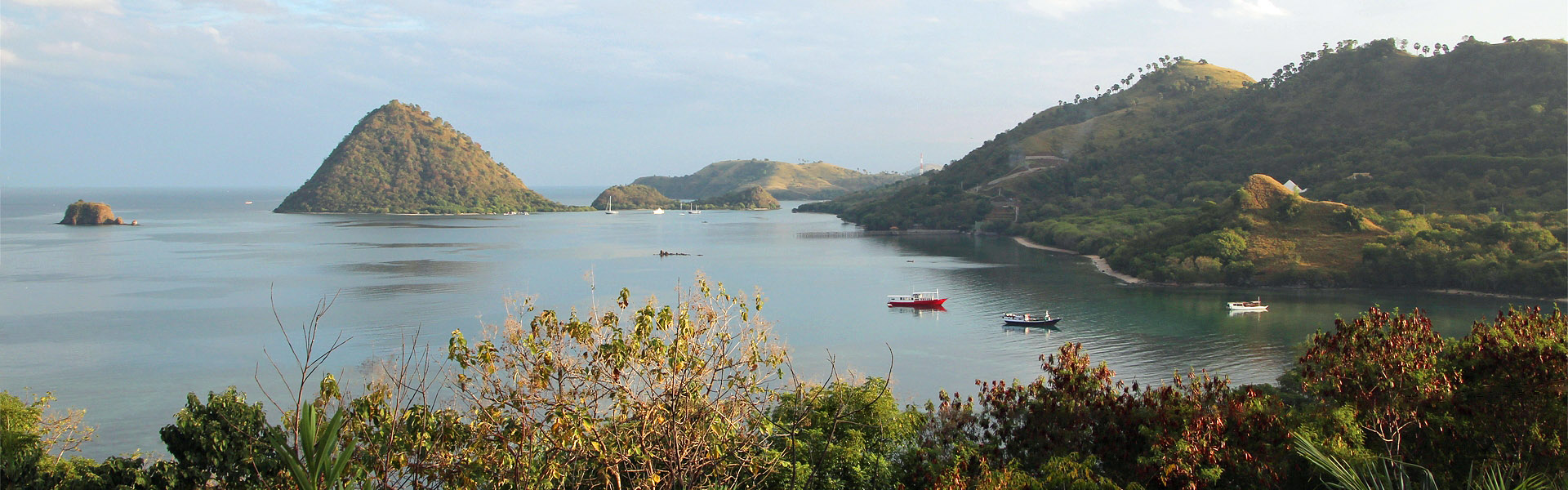View across north Labuan Bajo bay, Flores, Indonesia