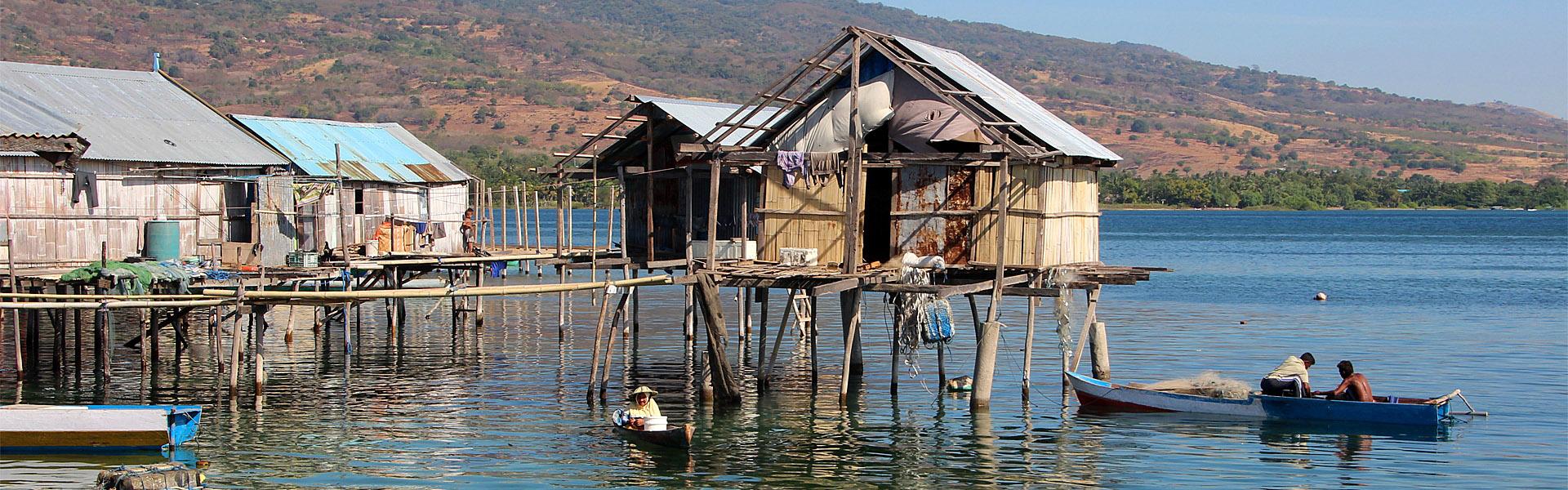 Wuring Bajo sea gypsy village near Maumere, Flores