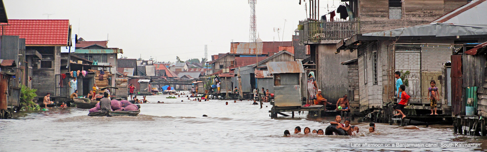 Banjarmasin canals, South Kalimantan, Indonesia