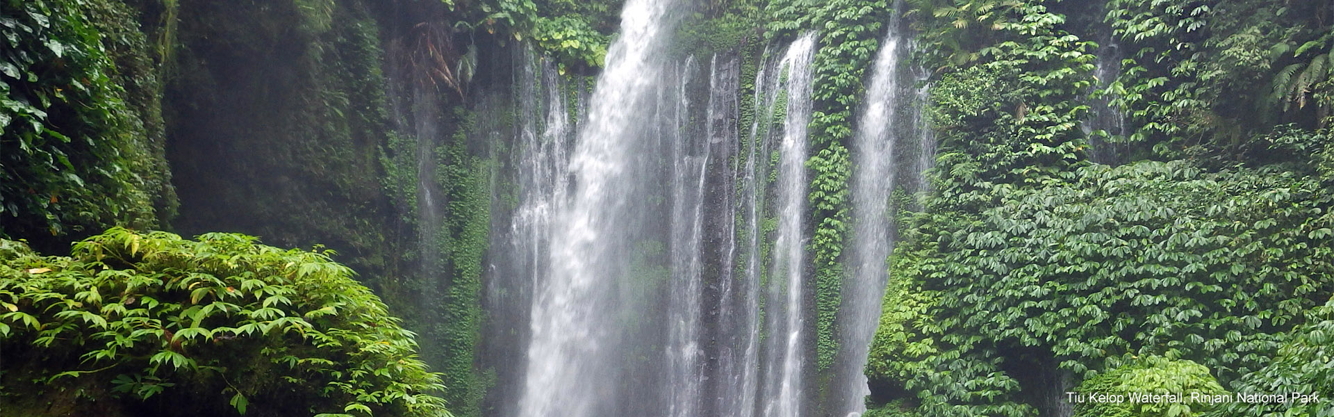 Beautiful Tiu Kelep Waterfall, Rinjani NP, Lombok
