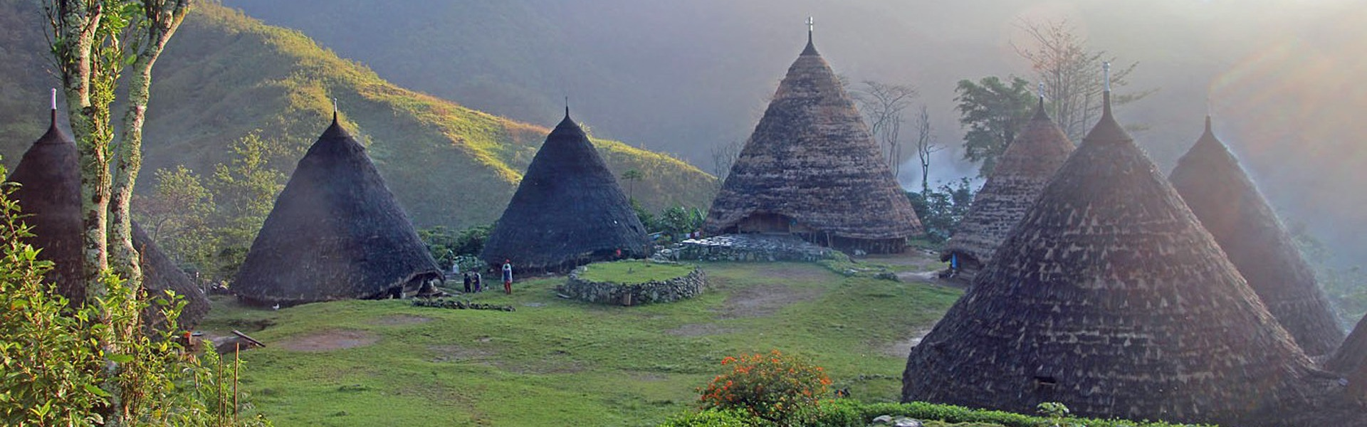 Wae Rebo traditional Manggarraian village in the central highlands of Flores, Indonesia