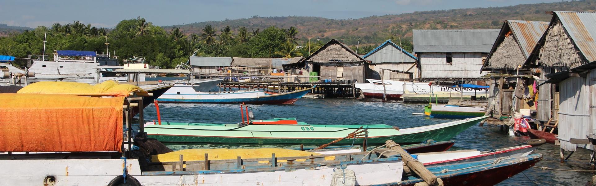 Typical Bajo sea gypsy village, Lesser Sunda Islands