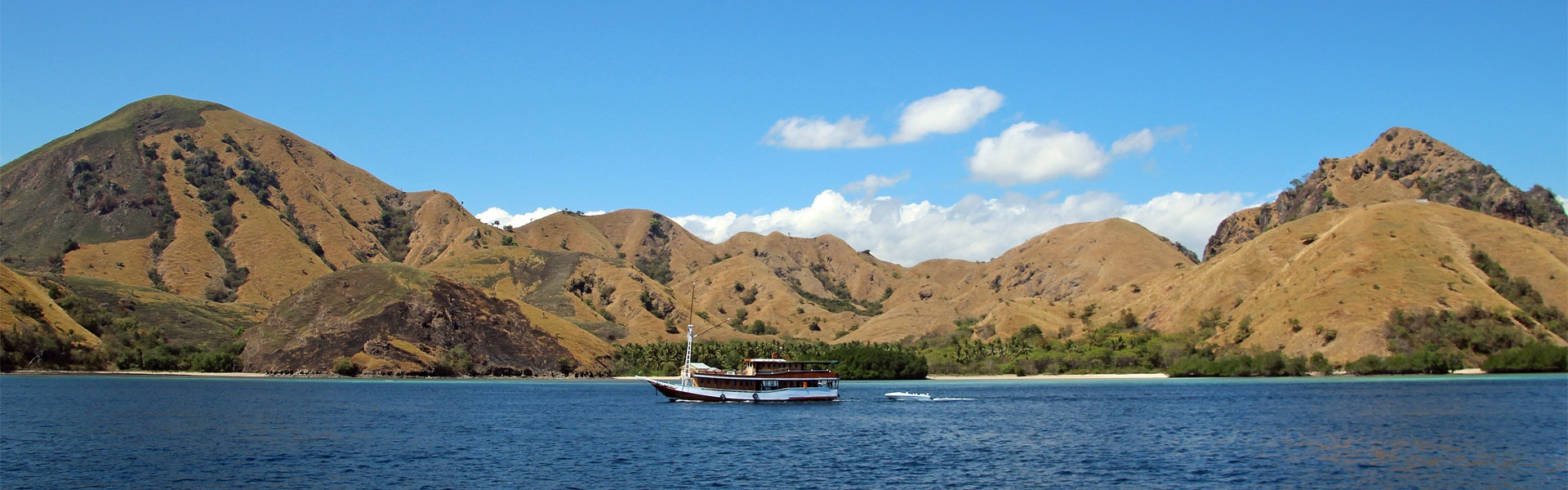 Local charter boat in the Komodo National Park, Indonesia
