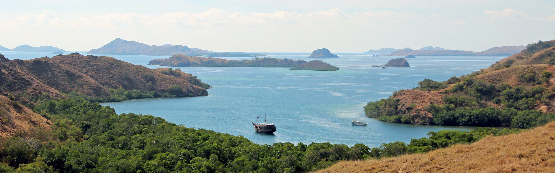 View over the Lesser Sunda Islands from Rinca Island, Komodo NP