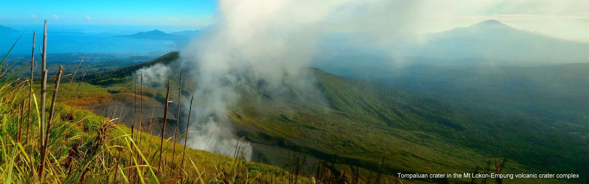 Tompaluan crater in the Mt Lokon-Empung volcanic
